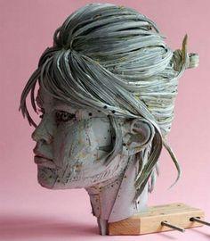 sculpture en carton, impressionnante de réalisme