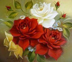 Image result for pintura em tela flores