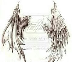I want this on my back one day but the wings on opposition sides with nightmare tattooed down middle Wing Tattoos On Wrist, Wing Tattoo Men, Wing Tattoo Designs, Demon Tattoo, Small Forearm Tattoos, Lower Back Tattoos, Body Art Tattoos, Small Tattoos, Tattoos For Guys