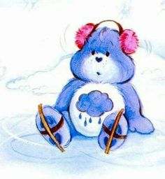 Christmas Cartoon Movies, Christmas Cartoons, Care Bears Vintage, Nursery Book, Bear Coloring Pages, Blue Nose Friends, Bear Valentines, Bear Art, Vintage Cartoon