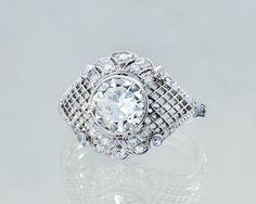 Pierścionek z diamentami 150730/03    #Sklep #Złoto-Orla #Warszawa #pierścionek #ring #platyna #metal #diament #koronka #misterna #diamenty #diamonds #vintage #biżuteria #jewlery #starabiżuteria Jewlery, Engagement Rings, Crystals, Enagement Rings, Wedding Rings, Jewerly, Schmuck, Jewelry, Crystal