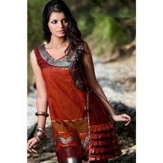 Red Angrakha Style #DesignerKurti