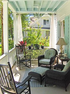 front porch decor ideas - Porches have their background in very early America and are frequently related to a simpler time and lifestyle, Best Rustic Farmhouse Front And Back Porch Designs Ideas Outdoor Curtains, Outdoor Rooms, Outdoor Living, Outdoor Decor, Front Porch Curtains, Porch Privacy, Outdoor Privacy, Long Curtains, Shower Curtains