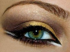 dark brown and gold