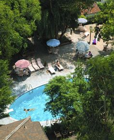 Pool at the Chateau Marmont ~ i spent my wedding night here....