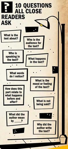 Questions good readers ask| comprehension questions | close reading
