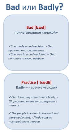Английские слова, которые мы путаем Bad, а где Badly #learnathome #englishgrammar #английский #confusingwords #english #vocabulary