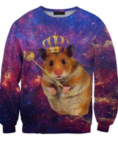 King Hamster Galaxy sweater ... because ... hamster in space! ...I NEED THIS.
