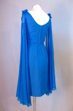 1960s Lili Diamond dress with shoulder drapes