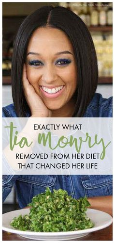 Tia Mowry cut these foods from her diet and they changed her life, you should to.  Womanista.com