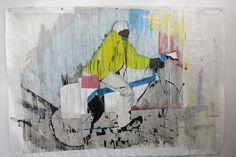 Gareth Nyandoro – Auya matissue akachipa akasimba! (cheap and strong toilet tissue mobile shop) 2015. Ink on paper, 220 x 310 cm