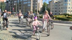 King Philippe, Queen Mathilde and their children joined Car Free Sunday with a bike ride in Brussels.  20 September 2015