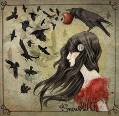 blanche neige snow white conte corbeau
