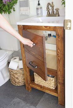 Bathroom a few ideas, bathroom renovation, master bathroom decor and master bathroom organization! Master Bathrooms could be beautiful too! From claw-foot tubs to shiny fixtures, they are the bathroom that inspire me the essential. Diy Bathroom Vanity, Rustic Bathroom Vanities, Rustic Bathroom Decor, Rustic Bathrooms, Bathroom Furniture, Bathroom Storage, Small Bathrooms, Rustic Vanity, Bathroom Mirrors