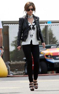 Cheryl Cole in a Muubaa Cion leather jacket    http://www.stanwells.com/by-designer/muubaa/muubaa-coin-black-leather-biker-jacket