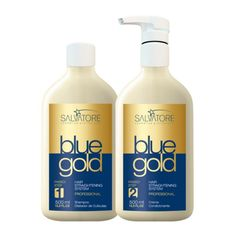 SALVATORE BLUE GOLD Hair Straigthening 500ml. Chemically treated or damaged hair. For more information :- http://artbeautyonline.com/product-salvatore-blue-gold-hair-straigthening-500ml-119