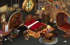 Steampunk bedroom decor ideas, DIY, interior design, steam punk, victorian, sleep, dark, goth, asian, kid rooms, furniture, steamer trunk, nautical, teen, awesome, romantic, modern, industrial chic, bed, paint, colors, wall, unique for new atmosphere of your bedroom.