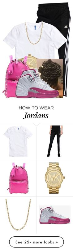 """"" by aniahrhichkhidd on Polyvore featuring adidas Originals, Michael Kors, Valentino and NIKE"