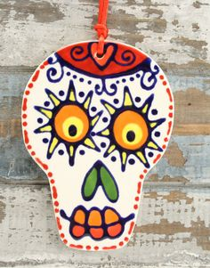 Day of the Dead TwoSided Ceramic Ornament by owlcreekceramics, $10.50