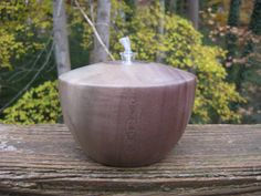 Turned Wooden Oil Lamp Rainbow Poplar by ThomasFineWoodworks, $30.00