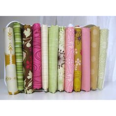 Woodland Twirls Fat Quarter Fabric Bundle by LARKcottons on Etsy, $29.00