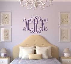 Personalized Monogram  Wall Decal Wedding  Wall Decal  by LucyLews, $12.00