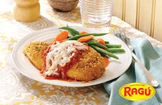 Oven Baked Chicken Parmesan Recipe from our friends at Ragú®