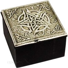 Celtic Pentacle Wood and Pewter Box