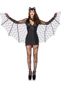 Donna Costume Di Halloween in velluto Pipistrello Ali Halloween Fancy Dress