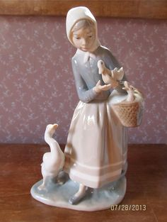 Lladro 4568 Shepherdess with Ducks Figurine by CarolynsCollections, $150.00