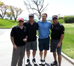 Holding court with my buds at Monday's Monarch Beach Sunrise Rotary Club's Charity Golf Tournament http://jacksonandwilson.com