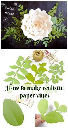 Paper Vines: How to Make Paper Leaves and Vines 2019 How to make realistic paper vines and leaves. The post Paper Vines: How to Make Paper Leaves and Vines 2019 appeared first on Paper ideas. Large Paper Flowers, Crepe Paper Flowers, Paper Flower Backdrop, Giant Paper Flowers, Paper Roses, Felt Flowers, Diy Flowers, Fabric Flowers, Paper Flowers How To Make