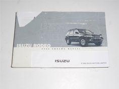2003 Isuzu Rodeo Owners Manual Book