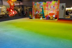 Design Futures Colour Visions installation for D+D 2012 by resident Trend Forecaster Genty Marshall of New Black