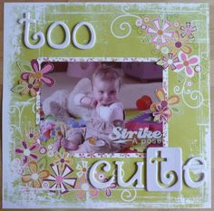 scrapbook ideas for the 5 year old | Pregnancy / Baby Scrapbook Ideas - In Love With Stamping