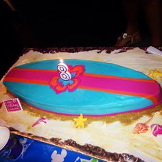 Surfboard cake! 12th Birthday Party Ideas, 11th Birthday, Birthday Cakes, Birthday Parties, Surfboard Cake, Surf Cake, Cupcake Cakes, Cupcakes, Pool Parties