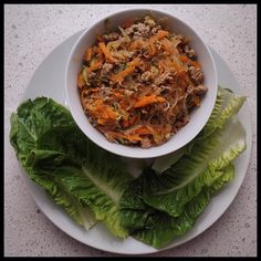 """My secret shame: I'm a San Choy Bow addict. Thanks for giving me my fix #IQS!!! This was awesome! Love it! I decided to put my mince mix in a bowl and then use the leaves as a scoop - AWESOME!!! I'm pretty useless trying to make lettuce cups hence the Cos/Romaine Lettuce! @iquitsugar #realfood #naturalfood #wholefood #foodpics #foodporn #iquitsugar #lowsugar #diabeticfriendly #glutenfree #wheatfree #justeatrealfood #fuellingthisflankerlady #IQS8WP #IQSJERF #JERF #IQS #paleo #paleofood…"