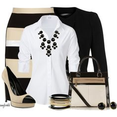 A fashion look from June 2013 featuring Steffen Schraut blouses, Plein Sud blazers y DKNY skirts. Browse and shop related looks.