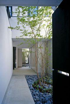 Good puristischer Garten ein minimalistisches Haus Hecke und kleine B ume Kreative Ideen f r Gartenzubeh r Pinterest