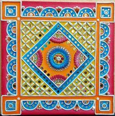 Super Home Design Traditional Mirror Ideas Clay Wall Art, Clay Art, Mural Painting, Mural Art, Krishna, Mirror Art, Mirrors, Tanjore Painting, Indian Folk Art