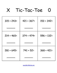 Freebie:  3 digit addition game perfect for math stations
