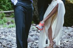 """7 Real Elopements You'll Love #refinery29  http://www.refinery29.com/stone-fox-bride/24#slide10  """"The day of the ceremony, we walked into town for a lazy breakfast and some paperwork. We split up to write our vows any get ready. Then, we followed Carl to the place where we could hike to our ceremony spot: a place where none of us had ever been. The adventure was the best part. We hiked in to a big rock where we finished getting ready."""""""