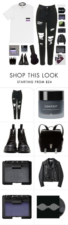 """""""♡ ACE"""" by spriingy ❤ liked on Polyvore featuring Topshop, Context, Dr. Martens, Proenza Schouler, NARS Cosmetics, Acne Studios and Fujifilm"""