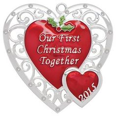 First Married Christmas Together Photo Ornament  First Christmas