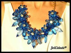 Blue crystal flowera