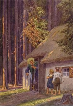 """German Fairy Tale - Brothers Grimm """"Hansel and Gretel"""" German Fairy Tales, Grimm Fairy Tales, Hansel Y Gretel, Brothers Grimm, Vintage Fairies, World Of Fantasy, Fairytale Art, Children's Book Illustration, Book Illustrations"""