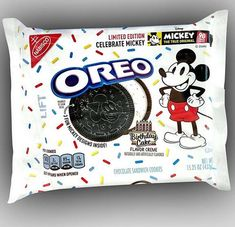 Limited Edition Mickey Mouse Birthday Cake Oreo! Celebrating 90 years of magic with 3 fun Mickey designs!