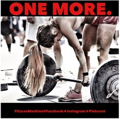 One more rep. Crossfit Motivation, Fitness Motivation Quotes, Crossfit Baby, Gymaholic, Sweat It Out, Keep Fit, Muscle Groups, Bodybuilding Motivation, Gym Workouts