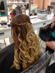 My Hair for Spring Formal (not styled by me)
