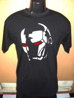 Men's Ring Tshirt Black Tee Shirt All Size and Color Custom White Marvel Iron Man Head « Custom Geek | Personalized DIY Custom Unique Gifts